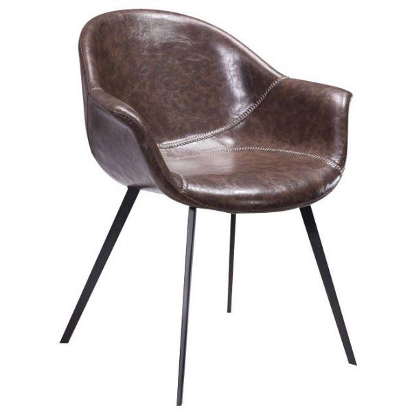 Artisan Bucket Chair (Brown Faux)