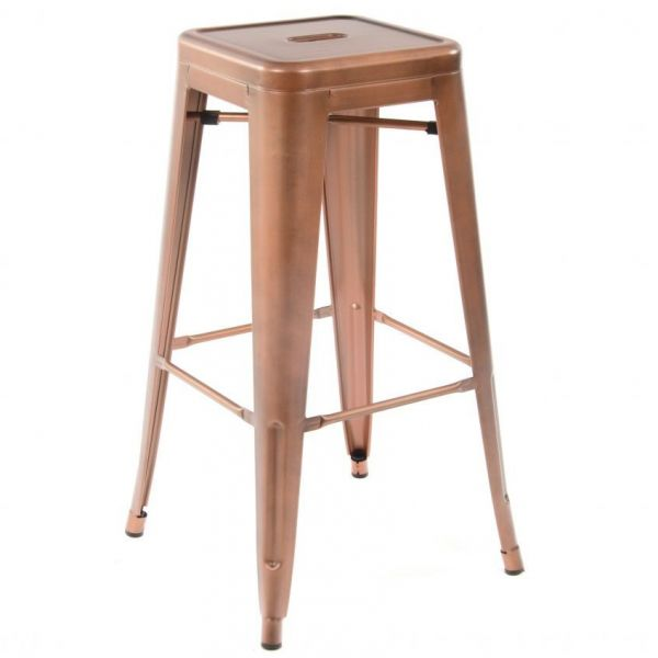 French Bistro High Stool (Copper)
