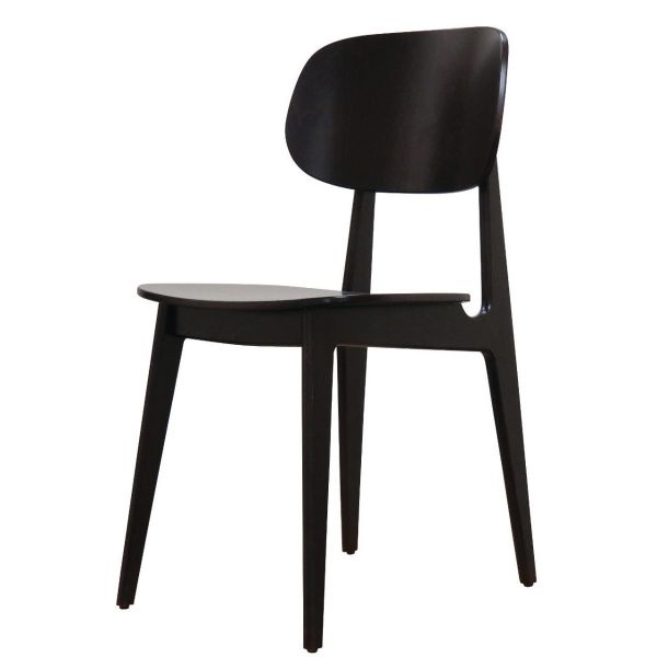 Bunny Solid Seat Side Chair (Wenge)
