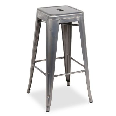 French Bistro High Stool (Clear Lacquer)