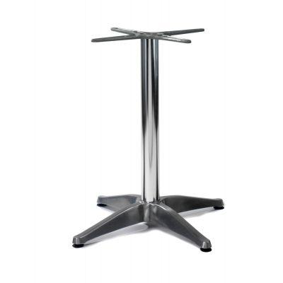 Aluminium 4 Star Dining Height Table Base (Silver)