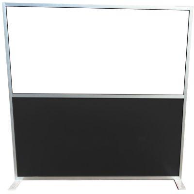 Aluminium Social Screen 1800mm x 1400mm (Black)