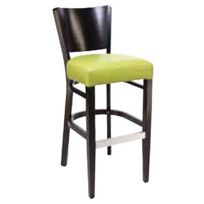 Atlantic Solid Back High Chair (Light Green Faux/Walnut)