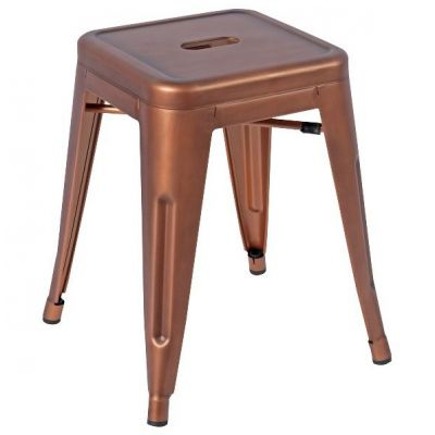 French Bistro Low Stool (Copper)