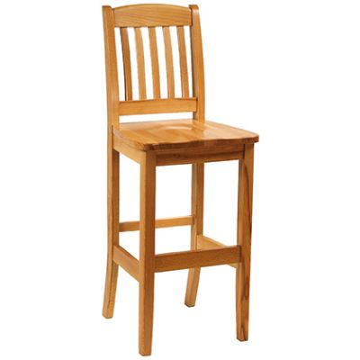Bosco Solid Seat High Chair (Warm Oak)