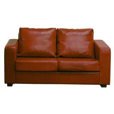 Britannia Three Seater Sofa (Brown Faux)