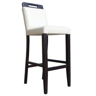 Castake High Chair (White Faux / Walnut)