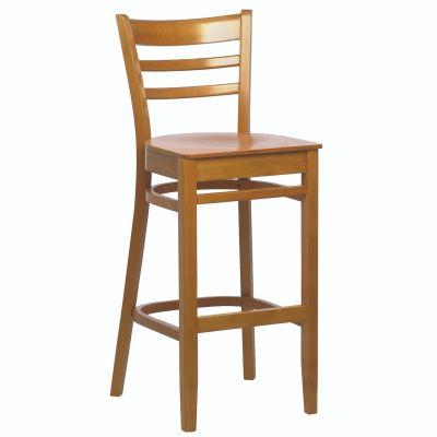 Dane Solid Seat High Chair (Light Walnut)