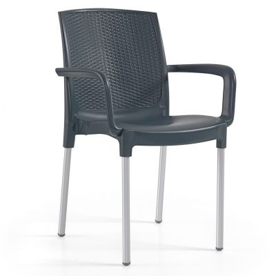 Diana Arm Chair (Anthracite)