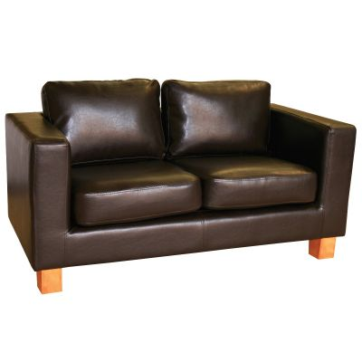 Diego Two Seater Sofa (Brown Faux)