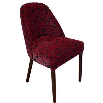 Gomo Side Chair (ParadisoBurgundy / Walnut)