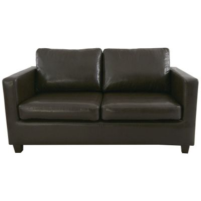 Grom Three Seater Sofa (Dark Brown Faux)