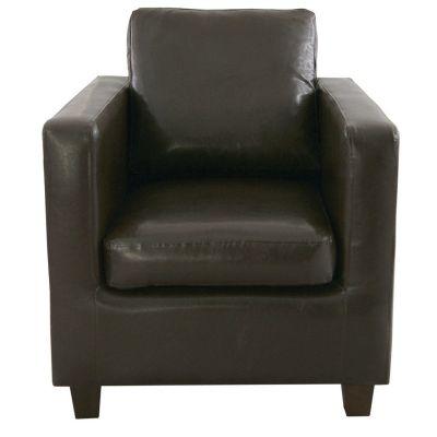 Grom Arm Chair (Dark Brown Faux)