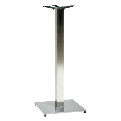 Profile Square Small ST SS Poseur Height Table Base