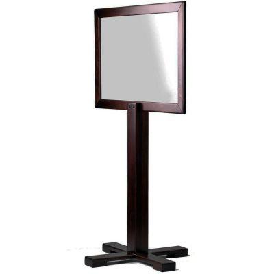 Portable Pedestal Social Screen 940 (Wenge / Clear Screen)