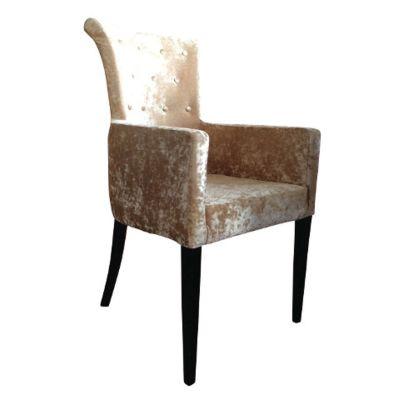 Kempton Carver Chair (Light Gold Velvet)