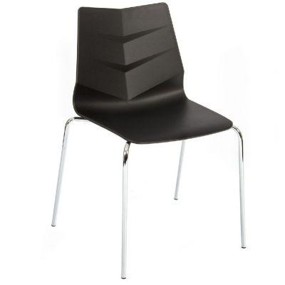 Leaf Four Leg Side Chair (Black)