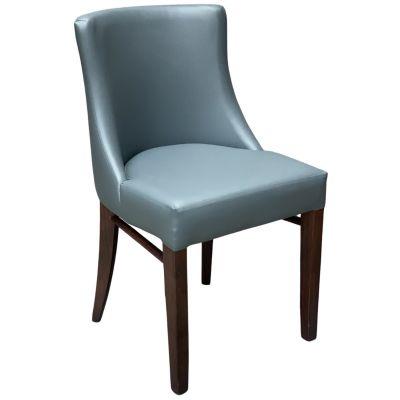 Leona Side Chair (Grey Faux)
