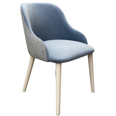Macaroon Armchair (Suede Blue)