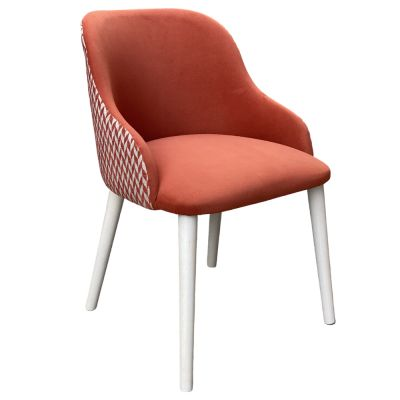 Macaroon Armchair (Red Suede)