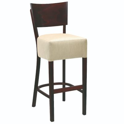 Memphis Solid Back High Chair (Ivory Faux / Walnut)