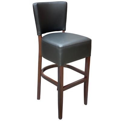 Memphis Standard High Chair (Black Faux / Walnut)