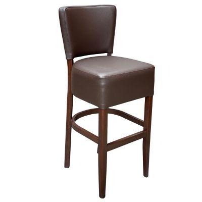 Memphis Standard High Chair (Brown Faux / Walnut)