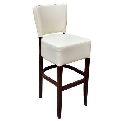Memphis Standard High Chair (Ivory Faux / Walnut)