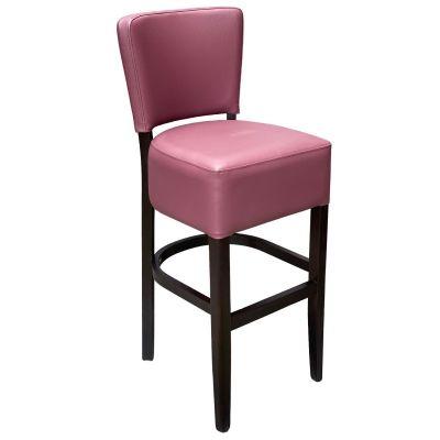 Memphis Standard High Chair (Plum Faux / Walnut)
