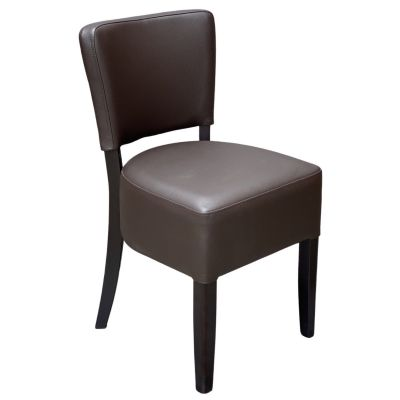 Memphis Standard Side Chair (Dark Brown Faux / Walnut)