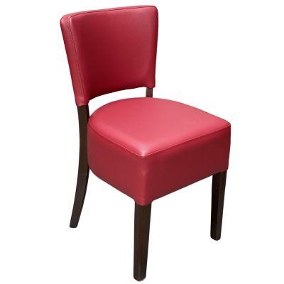 Memphis Standard Side Chair (Wine / Walnut)