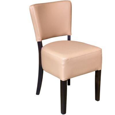 Memphis Standard Side Chair (Cappuccino Faux / Walnut)