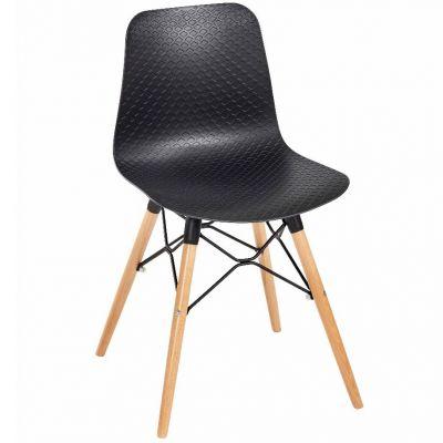 Net Web Frame Side Chair (Beech / Black)