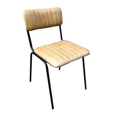 Rib Side Chair (Dijon / Black)