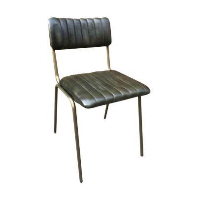 Rib Side Chair (Olive / Brass)