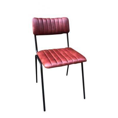 Rib Side Chair (Sangria / Black)