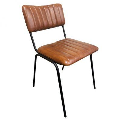 Rib Side Chair (Tan / Black)
