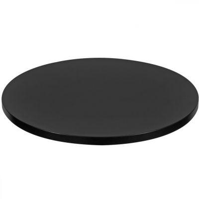 Mono Laminate Round Table Top - 600mm Diameter (Black)