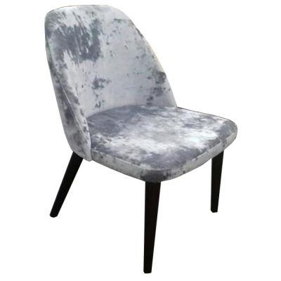 Semifreddo Full Back Side Chair (Silver Velvet)