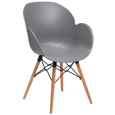 Space Web Frame Carver Chair (Grey / Beech)