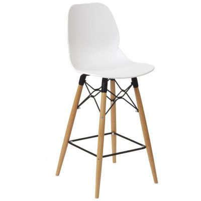 Space Web Frame Mid Height Chair (White / Beech)