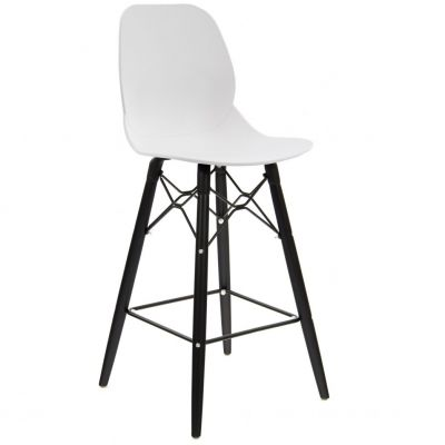 Space Web Frame Mid Height Chair (White / Black)