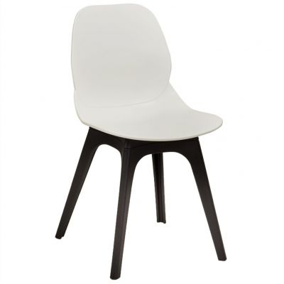 Space Arch Frame Side Chair (White / Black)