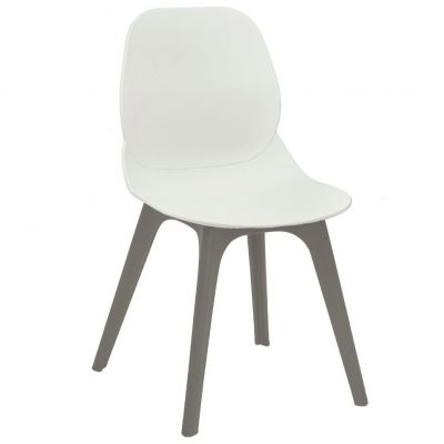 Space Arch Frame Side Chair (White / Grey)