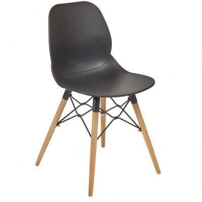 Space Web Frame Side Chair (Black / Beech)