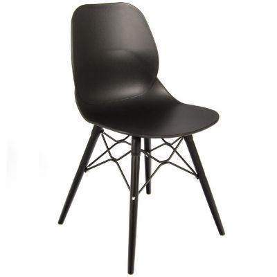 Space Web Frame Side Chair (Black / Black)