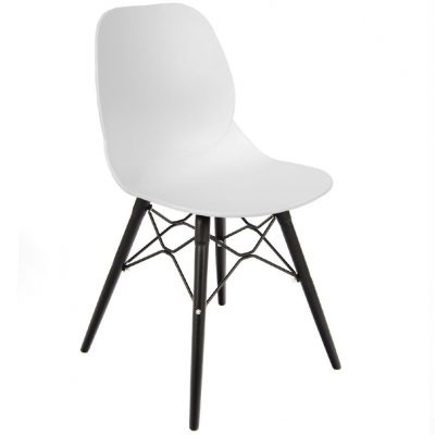 Space Web Frame Side Chair (White / Black)