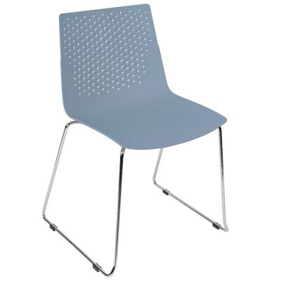 Flex Skid Side Chair (Blue)