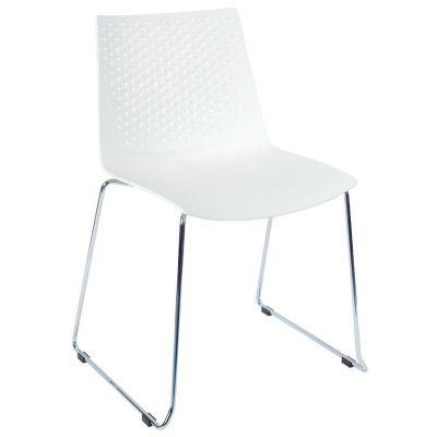Flex Skid Side Chair (White)