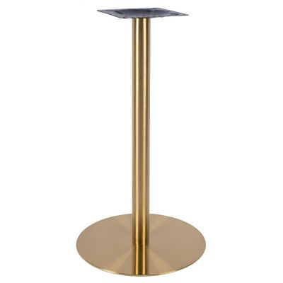 Zeus Small Poseur Height Table Base (Brass)